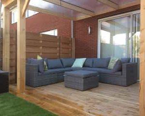 Moderne lounge Tuin
